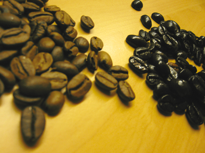 selbstgeröstete Kaffeebohnen