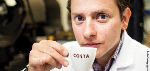 Kaffee-Tester-Zunge-Tasse