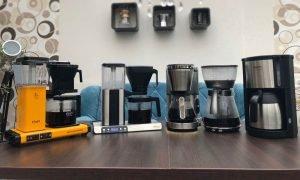 Fünf High End Filterkaffeemaschinen im Crema Test